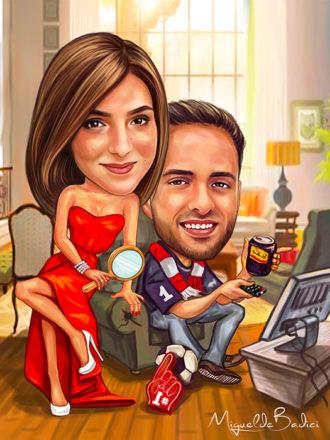 Digitalna-karikatura-couple