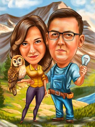 Digitalna-karikatura-Family