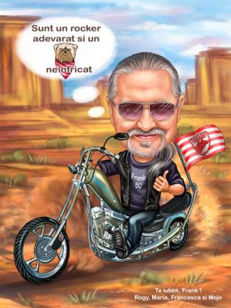 Digitalna-karikatura-with-motorbike