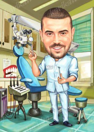 Карикатура_подарък_за_зъболекар