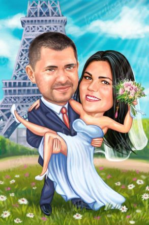 Сватбена_карикатура_в_париж