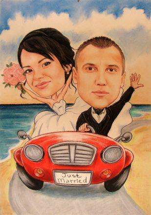 karikatura_po_snimka_podarak_za_svatba